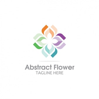 Colorful abstract logo fiore