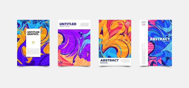 Красочная абстрактная текстура жидкости. современная обложка плаката