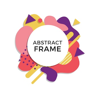 Colorful abstract frame