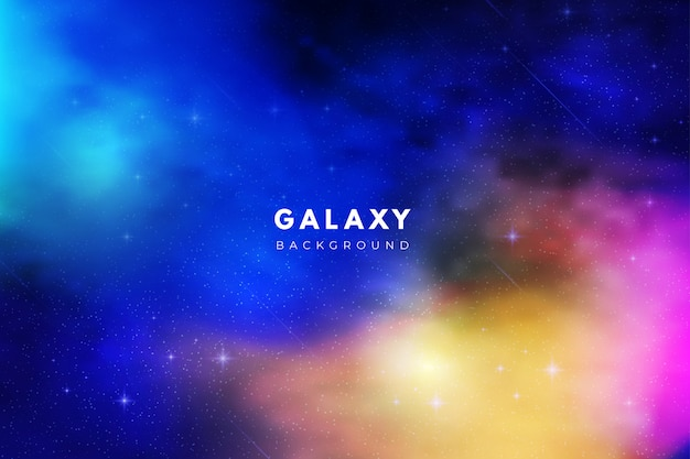 Colorful abstract galaxy background
