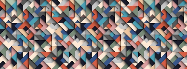 Colorful abstract geometric  background, 3d effect, trendy colors