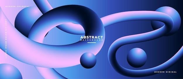 다채로운 추상적 인 기하학적 bannertrend 그라데이션입니다. 유체 모양 구성.