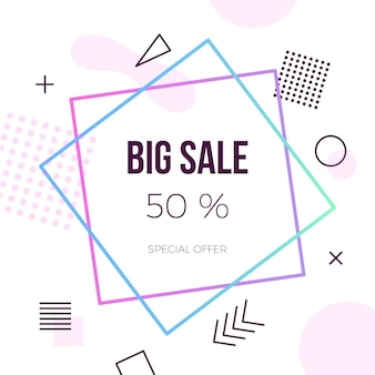 Colorful abstract geometric big sale background