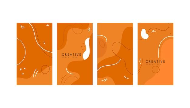 Красочный абстрактный геометрический оранжевый фон для социальных сетей