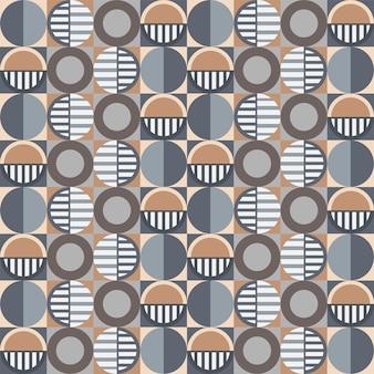 カラフルな抽象的な幾何学的なシームレスパターンの背景。