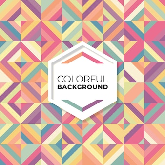 Colorful abstract geometric seamless pattern
