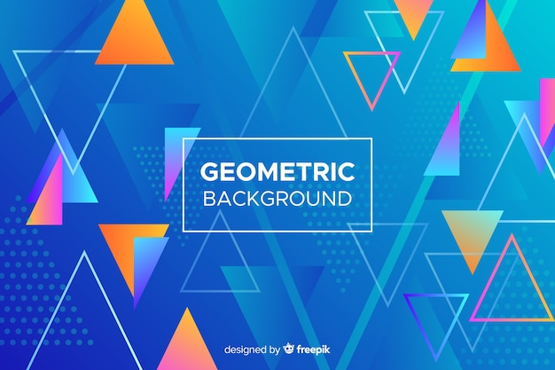 Colorful abstract geometric shapes background