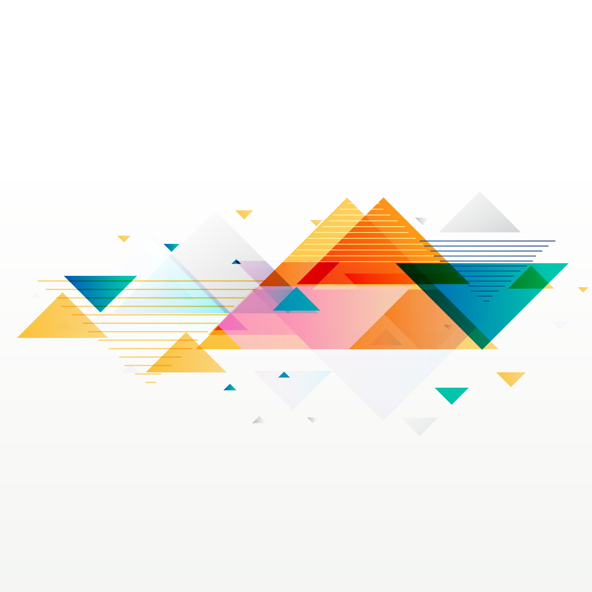 Colorful abstract geometric triangle shapes background