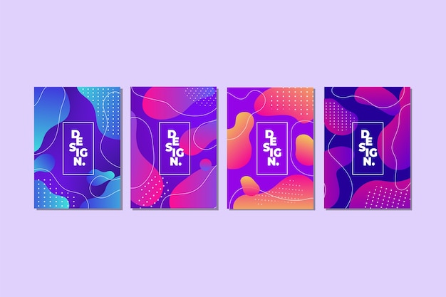 Colorful abstract gradient shapes cover collection