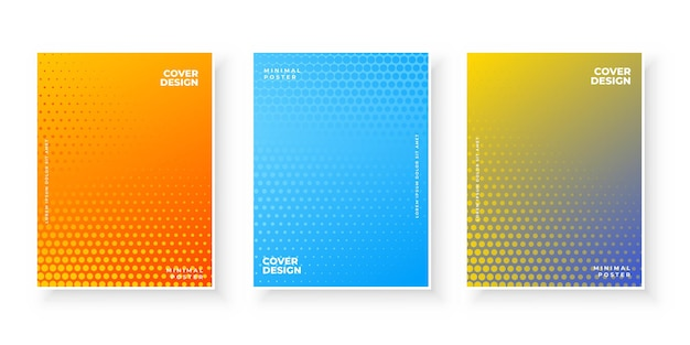 Colorful abstract gradient texture for minimal cover  set
