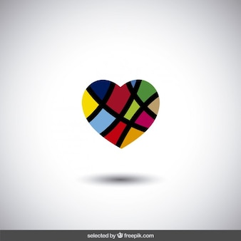 Colorful abstract heart