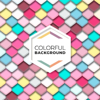 Colorful abstract hexagon geometric seamless pattern