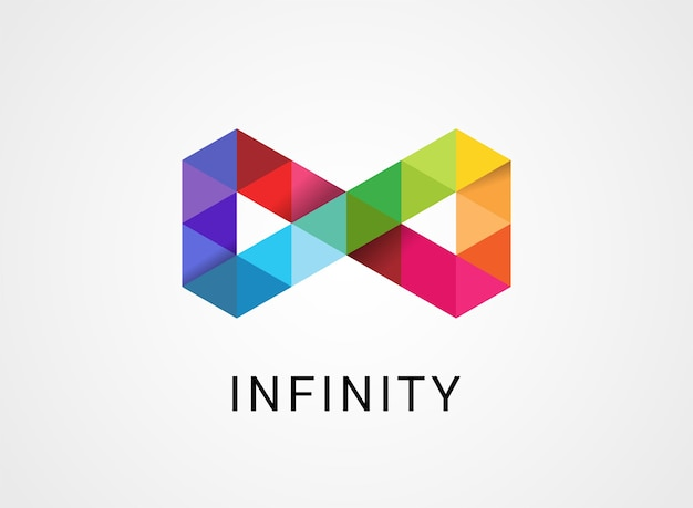 Colorful abstract infinity, endless logo