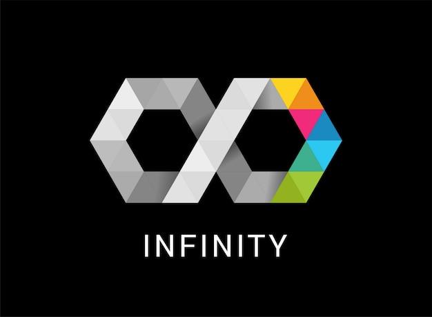 다채로운 추상적 인 무한대, 끝없는 로고