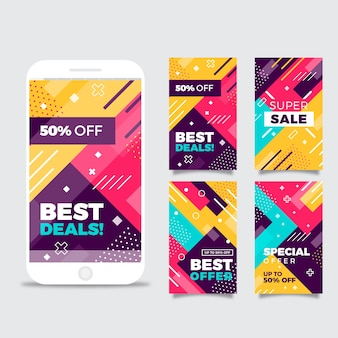 Colorful abstract instagram sale stories