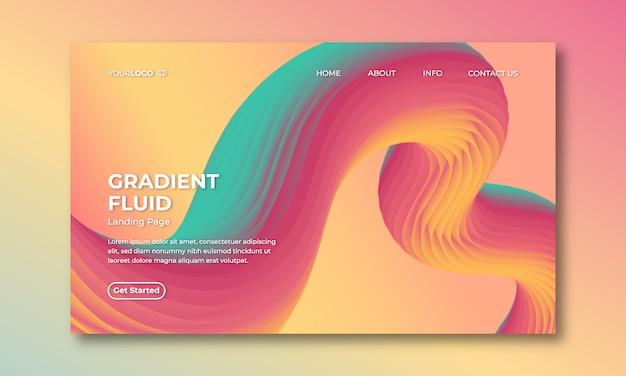 Pagina di destinazione astratta colorata