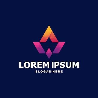 Красочное абстрактное письмо a logo premium