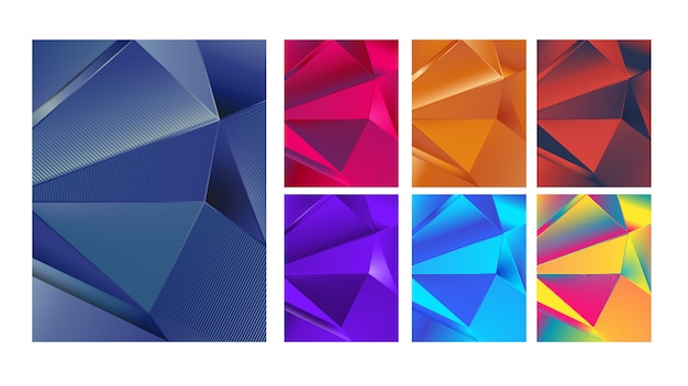 Colorful abstract lines background collection