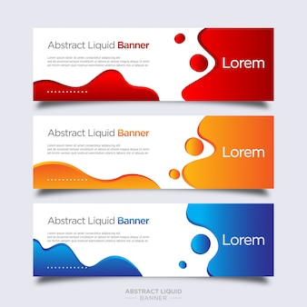 Colorful abstract liquid banner template