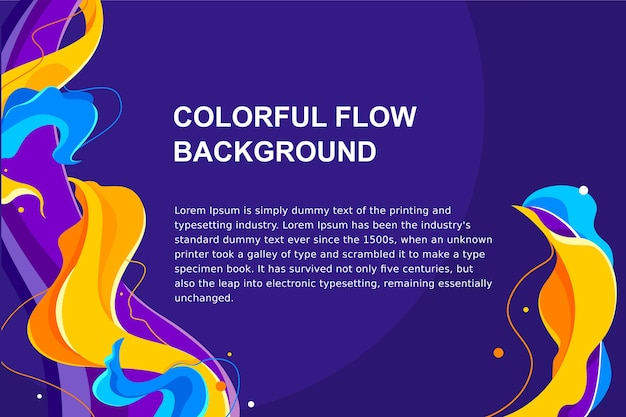 Colorful abstract and liquid flow background for brochure, flyer, banner, or branding template