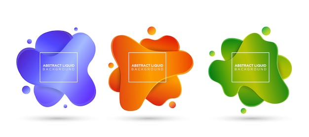 Colorful abstract liquid and fluid background
