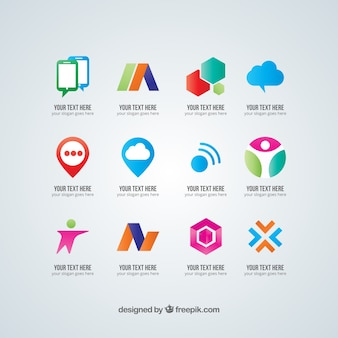 Colorful abstract logo collection