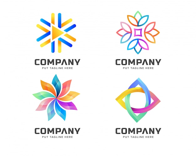 Colorful abstract logo template for business