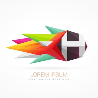Colorful abstract logo with letter h