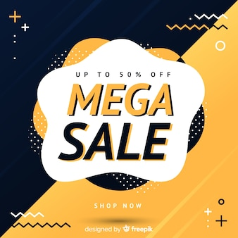 Colorful abstract mega sales background
