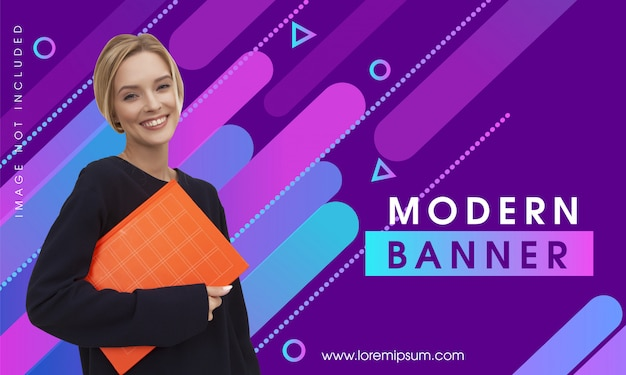 Colorful abstract modern banner