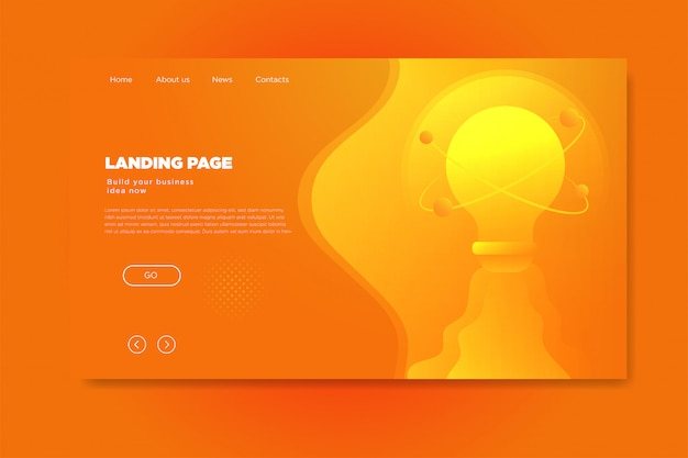 Colorful abstract modern gradient landing page template