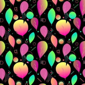 Colorful abstract modern leaves pattern