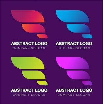 カラフルな抽象的なモダンなロゴのグラデーション