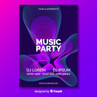 Colorful abstract music poster template