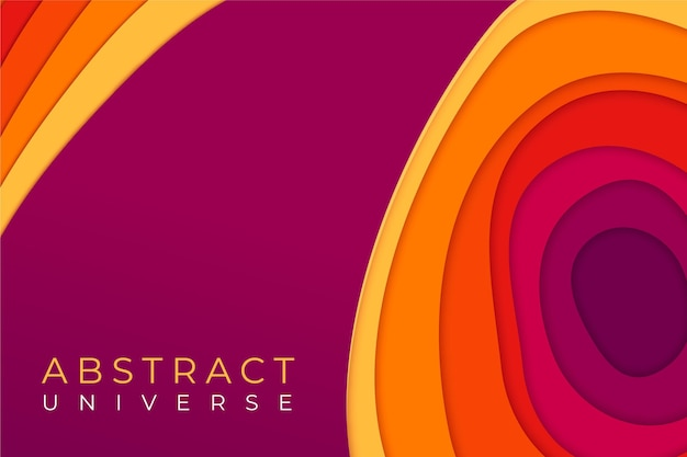 Красочный абстрактный бумажный стиль формы фона