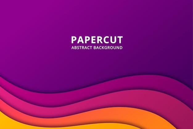 Красочный абстрактный фон papercut