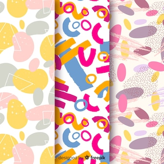 Colorful abstract pattern collection background