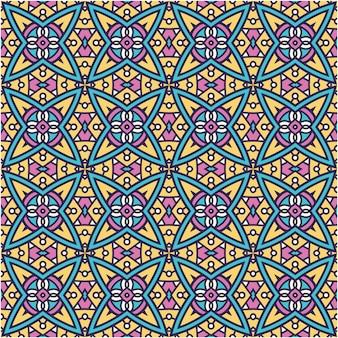 Красочный абстрактный узор в этническом стиле