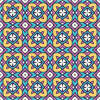 Colorful abstract pattern with ethnic style