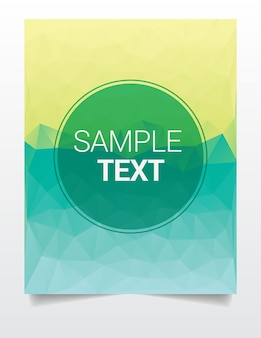 Colorful abstract polygonal background template
