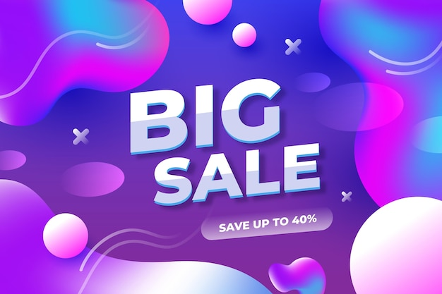 Colorful abstract sale banner