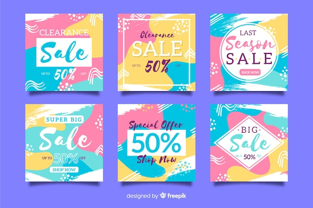 Colorful abstract sale instagram post collection