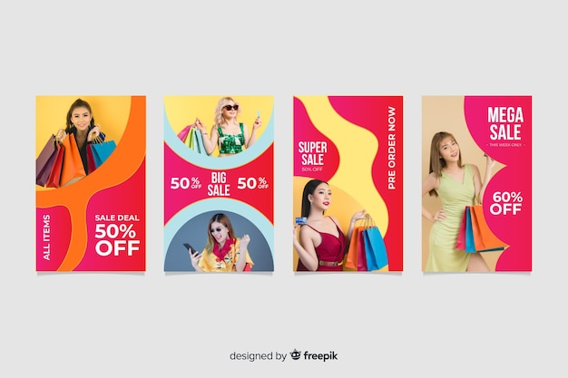 Colorful abstract sale instagram stories collection