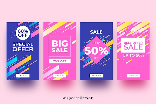 Colorful abstract sale instagram stories