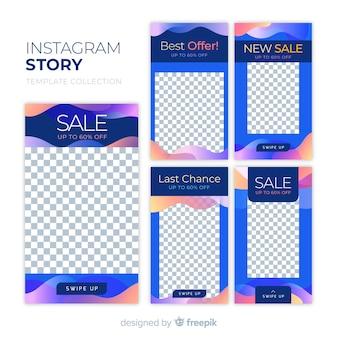 カラフルな抽象的な販売instagramの物語