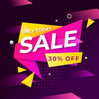 Colorful abstract sales banner