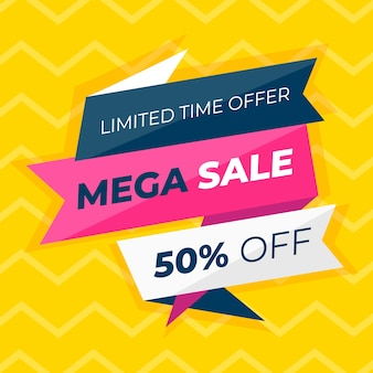 Colorful abstract sales promotion banner