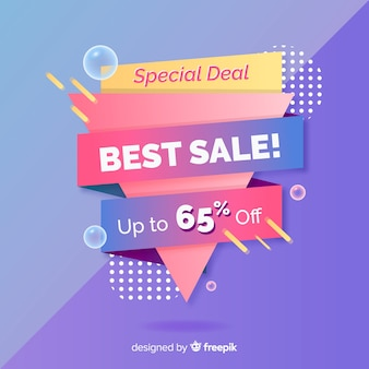 Colorful abstract sales promotion