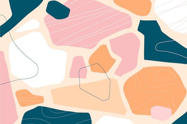 カラフルな抽象的な形の背景