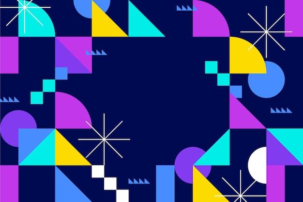 Sfondo di disegno di forme astratte colorate